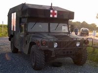 humvee ambulance utah beach normandie 2004