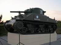 sherman m4a2 utah beach normandie 2004