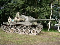 m26 pershing tanks in town 2005 mons bois brûlé ghlin